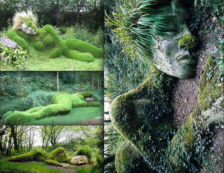 Lost Gardens of Heligan in Cornwall, Mud Maidens