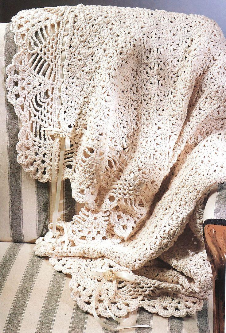 Crochet Baby Blanket Lace Pattern : Not Free! Victorian Elegance Afghan Crochet Pattern ...