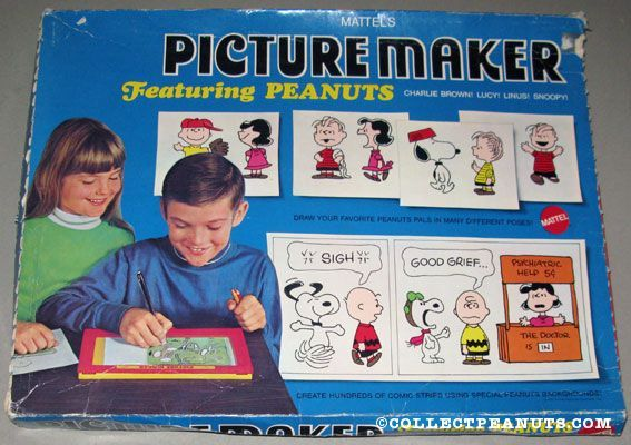 Peanuts Art & Drawing Materials | CollectPeanuts.com - Peanuts Gang Picture Maker with Stencils