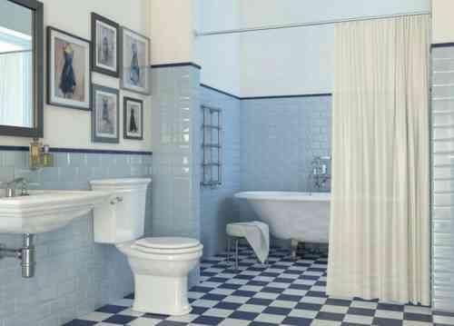 salle de bain de style rétro avec carrelage par CERAMICA VOGUE
