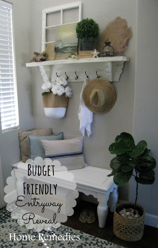 Budget Friendly Entryway Reveal with sea inspired touches.