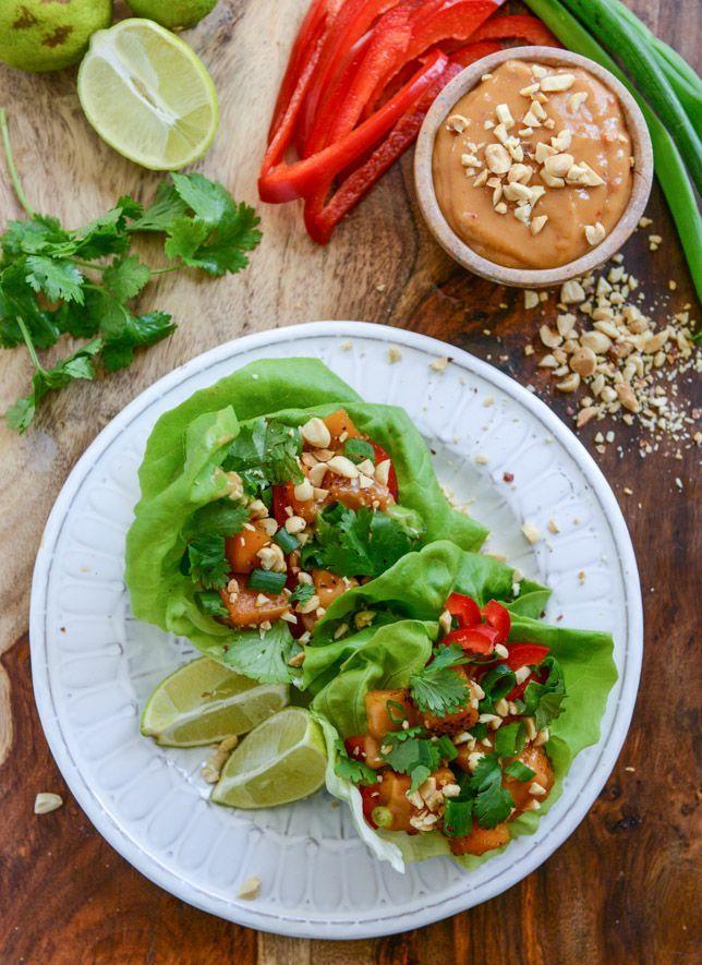 Thai Butternut Squash Lettuce Wraps.