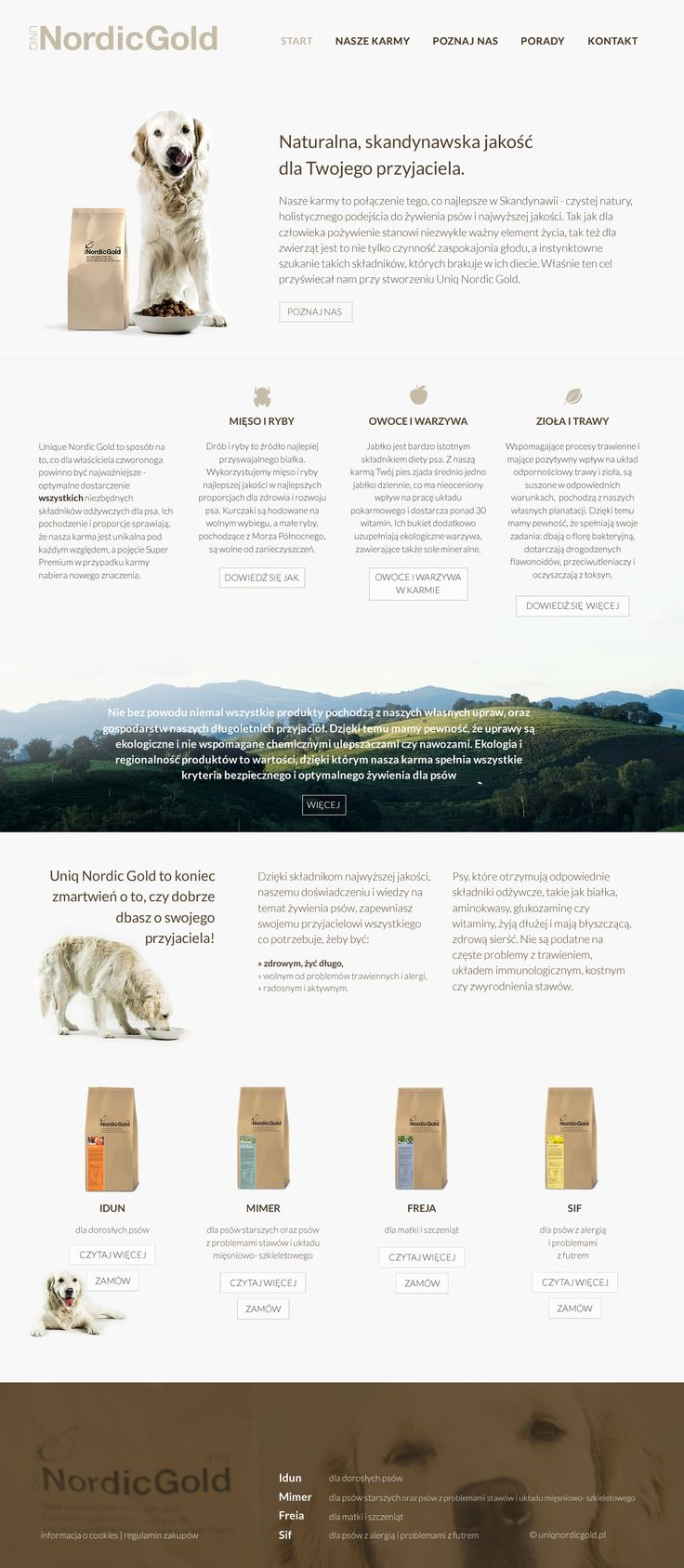 AIAC Agency for UniqNordicGold, new dog food :)  http://uniqnordicgold.pl   http://aiac.pl  #websitedesign #dogfood #dogs #uniqnordicgold #nordicgold #aiac