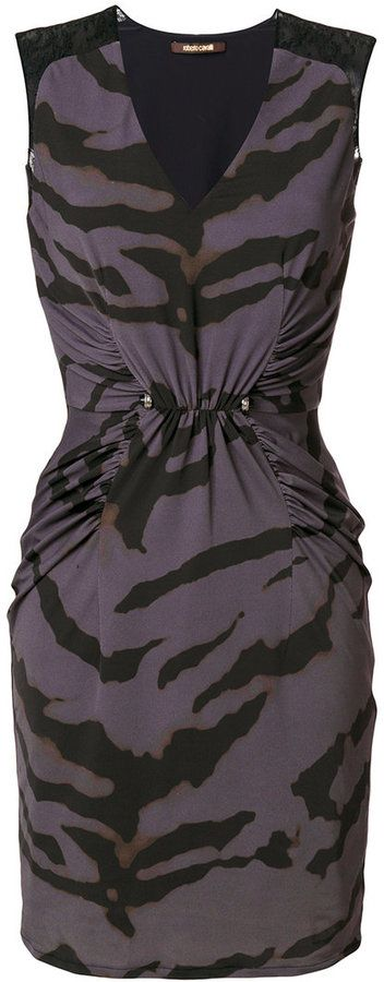 Roberto Cavalli zebra print dress