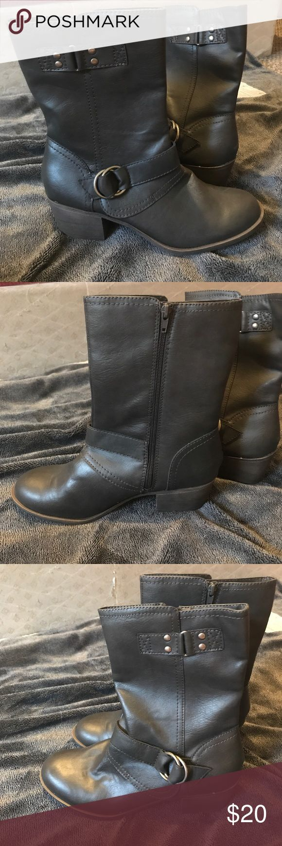 Rampage boots - NWOT Dark gray w/ ~2 inch heel - purchased from Shoe Carnival. Never worn! Rampage Shoes Heeled Boots