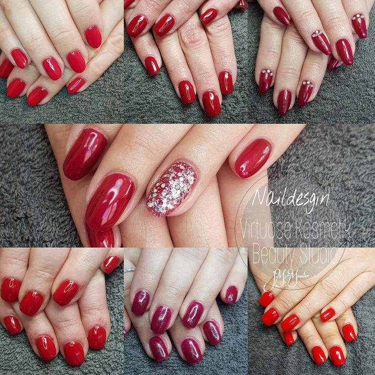 Naildesign Nailart Red Nails Fullcover