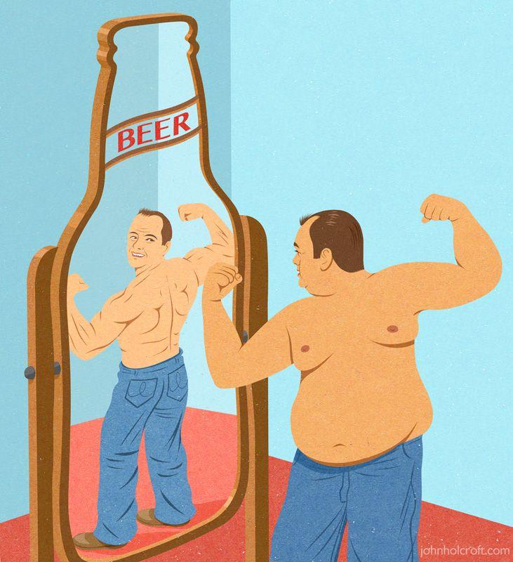 #JohnHolcroft #editorialillustration #illustration #beerbelly #healthandwellness #lindgrensmith