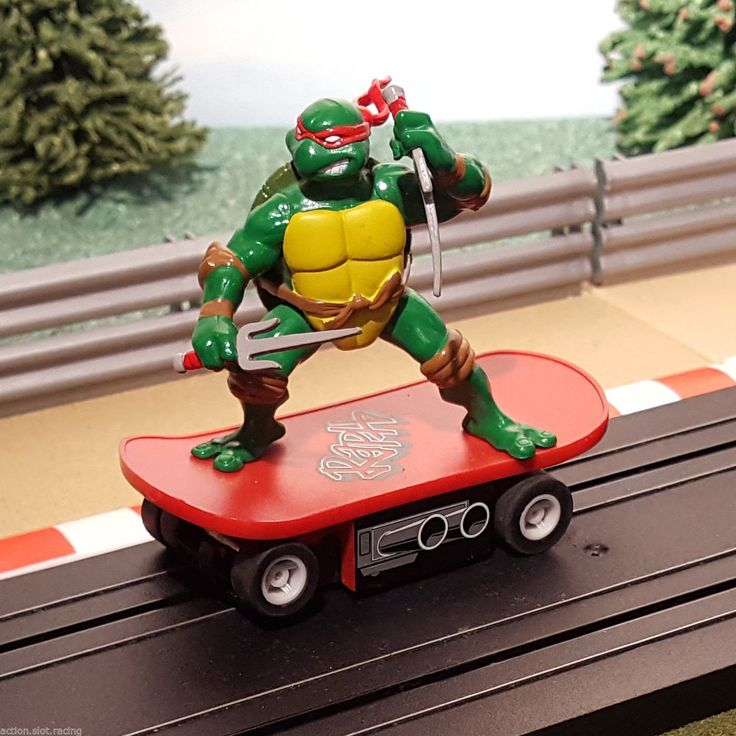 Micro Scalextric ... now for sale! Browse here http://www.actionslotracing.co.uk/products/micro-scalextric-slot-car-1-64-tmnt-teenage-mutant-ninja-turtles-red-raphael?utm_campaign=social_autopilot&utm_source=pin&utm_medium=pin