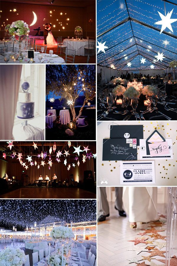 starry night wedding decoration