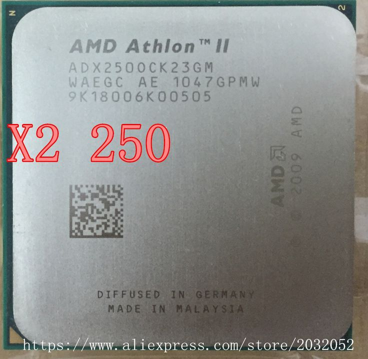 AMD Athlon II X2 250 processor 3.0GHz/2MB L2 Cache /Socket AM3  Dual-Core CPU (working 100% Free Shipping) #men, #hats, #watches, #belts, #fashion, #style