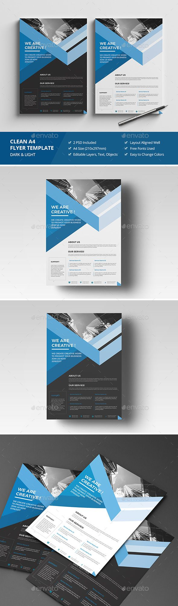Haweya Corporate Flyer Template PSD