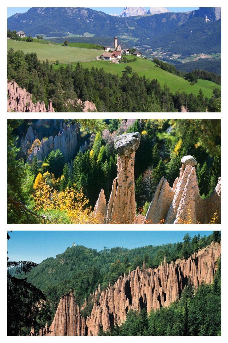 As mais belas pirâmides de terra na Europa estão no Tirol do Sul perto de Bolzano. http://www.italydolomites.com/hikes/renon-earth-pyramids/  #dolomitas #viajar #dicasdeviagens #italia #roteiros #lugaresparavisitar