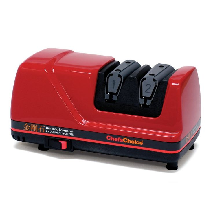 Edgecraft M316 Electric Asian Knife Sharpener - Red - 0316002