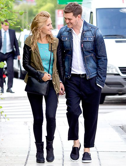 Michael Buble and wife Luisana Lopilato had eyes only for each other while walking in Madrid, Spain, on April 28.