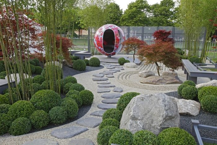 Bamboo, Boxwood and Japanese maples for a perfect Zen