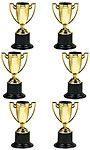 "These Trophies and Awards Mini Plastic Trophies Size: 10cm (3.9"") 10cm (6pk) are great to add to your loot bags"