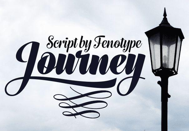 Journey Font #handwritten #fonts #beutiful