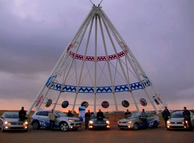 Driving with friends across Canada - The Saamis TeePee in Medicine Hat, Alberta