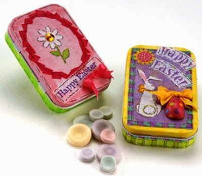 podoge ideas | Mod Podge Easter ideas | Mod Podge Crafts, ideas with old tins