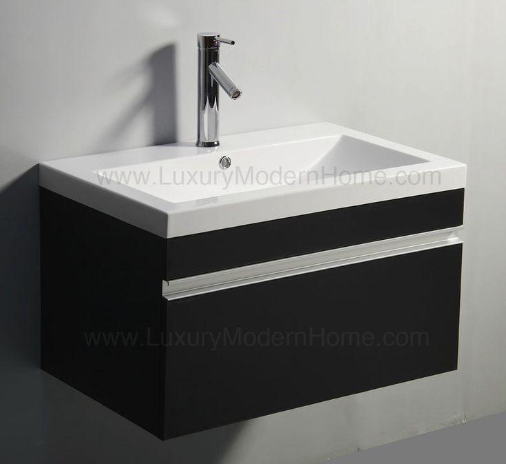 Modern Bathroom Vanity 30 Inch 18 best vanity sinks - alexius black wall mount hung images on