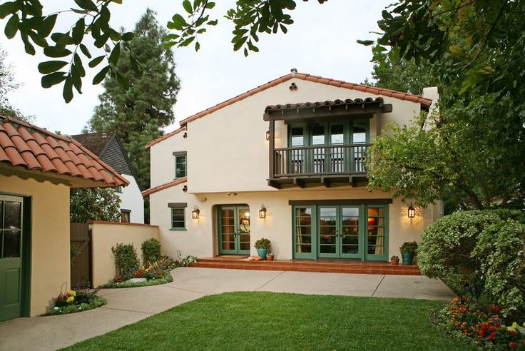 19 best house styles images on pinterest house styles for Spanish revival exterior paint colors