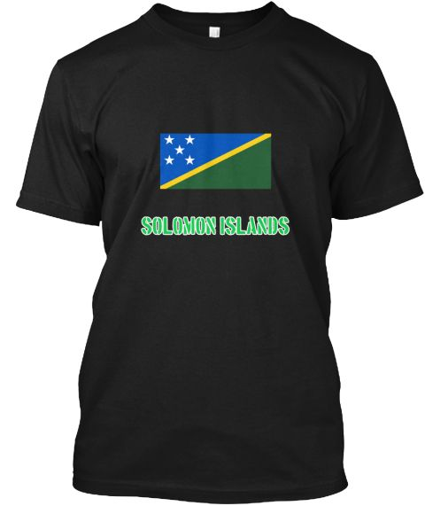 Solomon Islands Flag Stencil Green Desig Black T-Shirt Front - This is the perfect gift for someone who loves Solomon Islands. Thank you for visiting my page (Related terms: I Heart Solomon Islands,Solomon Islands,Solomon Islander,Solomon Islands Travel,I Love My Country,So #Solomon Islands, #Solomon Islandsshirts...)