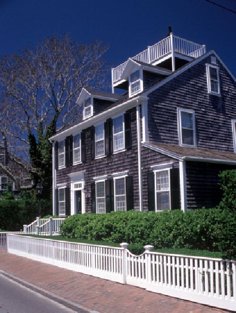 Nantucket, open-air widow's walk. We want a widow's walk at the lake house. :)