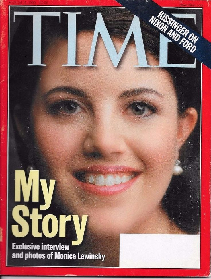 TIME MAGAZINE ~ MARCH 15 1999 3/15/99 ~ MY STORY Monica Lewinsky Interview