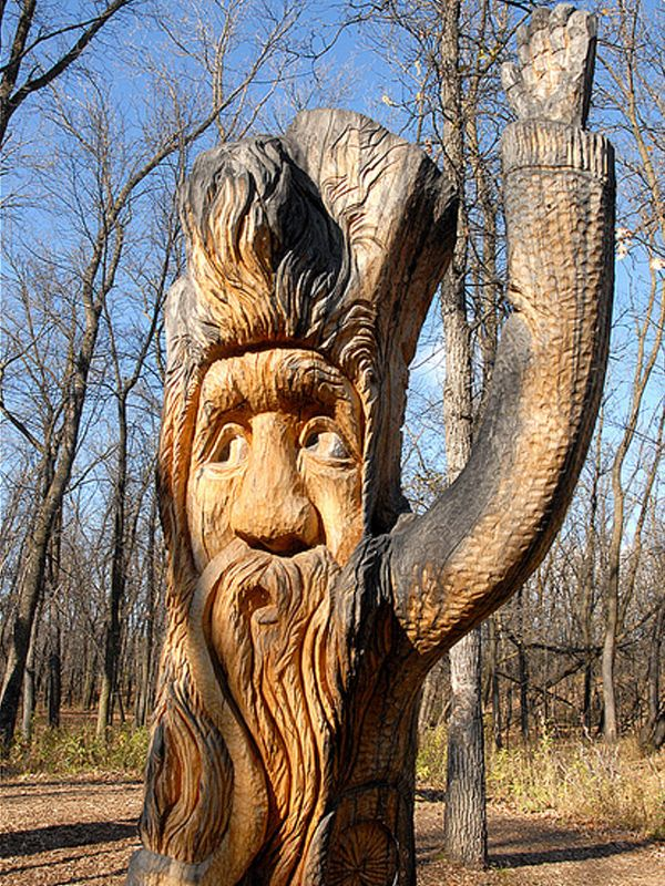 Creative carvings on trees are always a pleasure to