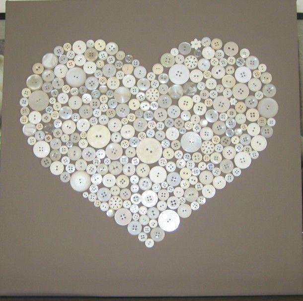 Leuk om zelf te maken | Een wit canvas schilderij bij de action gekocht. Door karlijnvanlierop