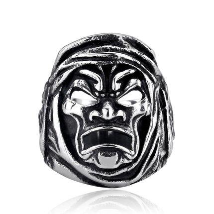 Sparta Warrior Head Titanium Ring