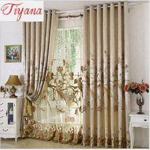 Tratamentos de janela de moda Bordado Papagaio Francês janela cortinas para sala de estar de luxo varanda produto personalizado hp002 #30(China (Mainland))