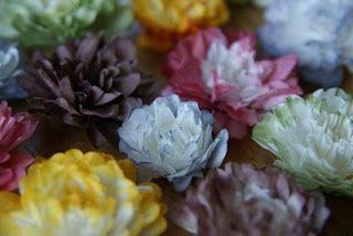 bloemen van koffiefilters