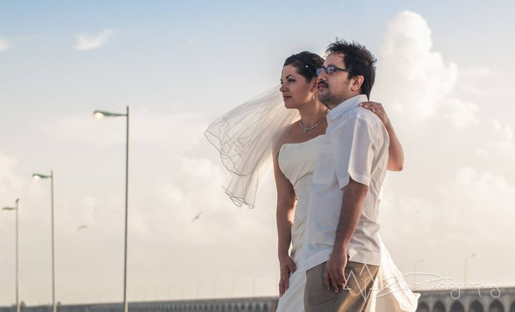 Zeiba Photography – Destination Weddings in the Yucatan Peninsula. This photo was in Progreso, Yuc. Wonderful couple starting a new future together