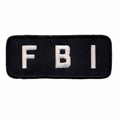 """FBI"" Shoulder Tag Embroidered Iron or Sew on Patch $2.99"