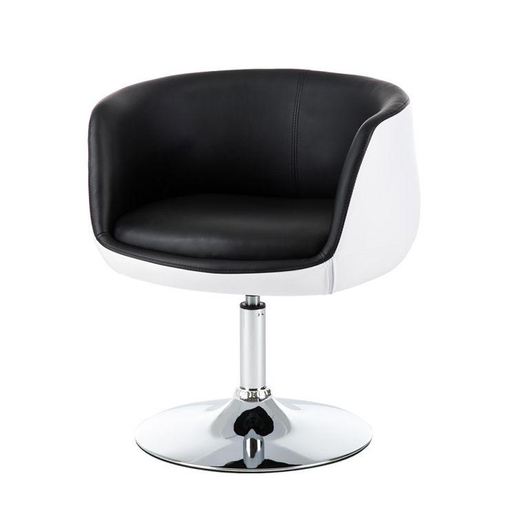 Cocktailsessel weiß  Cocktailsessel Perico - Kunstleder Schwarz/Weiß | HOME 24 | Pinterest