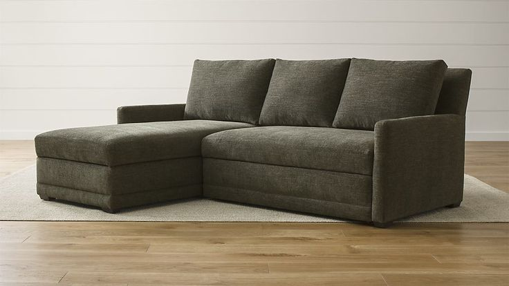 88 inch Reston 2-Piece Sleeper Sectional Sofa | Crate and Barrel