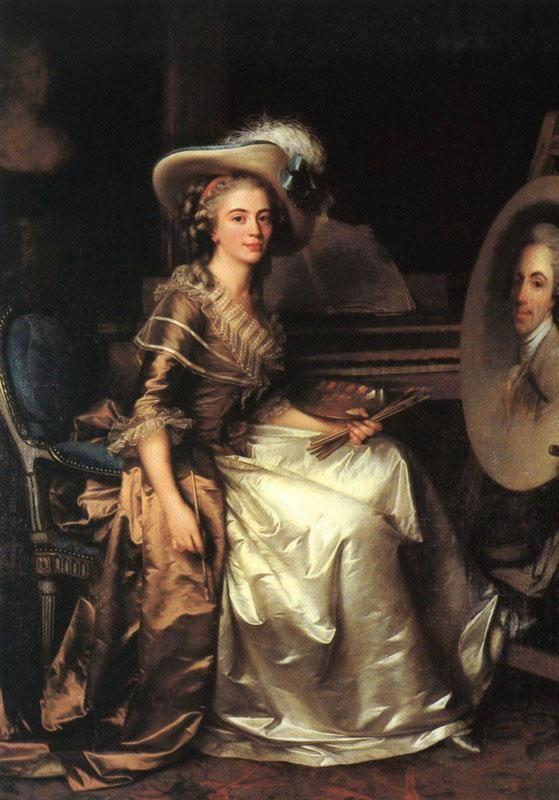 Antoine Vestier, Portrait of Marie-Nicole Vestier, 1785, oil on canvas (Private Collection).