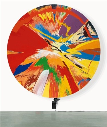 Damien Hirst - Spinning paint.