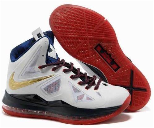 Nike Lebron 10 Gold White Red