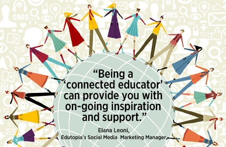 """""""Being a 'connected educator' can provide you with on-going inspiration and support."""" - Elana Leoni"""
