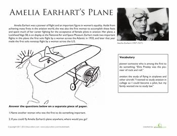 essay on amelia earhart biography Amelia earhart is inspiring because she was the first female to fly across the atlantic ocean and prove women could do anything that men could do 1931: the first women to fly autogyro ( a form of aircraft with freely rotating horizontal vanes and a propeller) 1932: first women to fly over the .