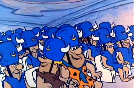 Image result for Fred Flintstone meets the Grand Pooobah