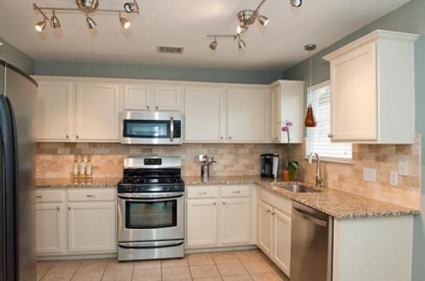 Budget Friendly Travertine Kitchen Makeover  Dream Home Ideas