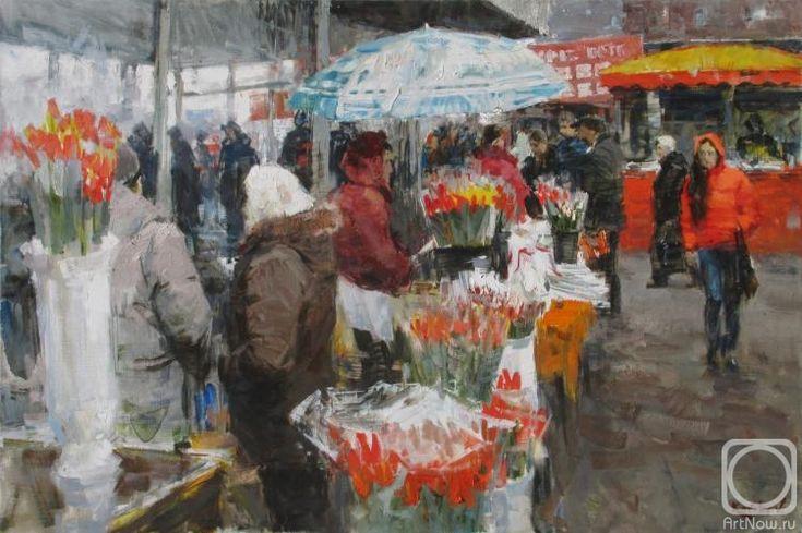 Ковалев Владимир. цветочный рынок. 8 марта