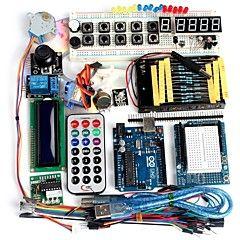 funduino+geavanceerde+starter+kit+lcd+servomotor+dot+matrix+broodplank+geleid+basiselement+pak+compatibel+voor+Arduino+–+EUR+€+53.87