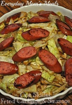 Everyday Mom's Meals: One Skillet Fried Cabbage and Sausage