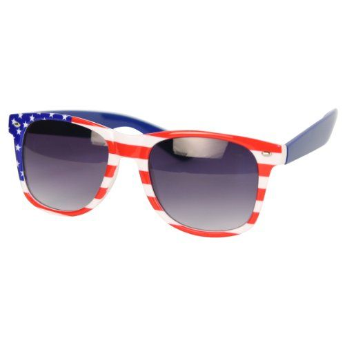 Amazon.com: #USA American Flag Sunglasses