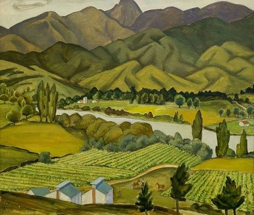 Tobacco fields, by Doris Lusk | NZHistory, New Zealand history online