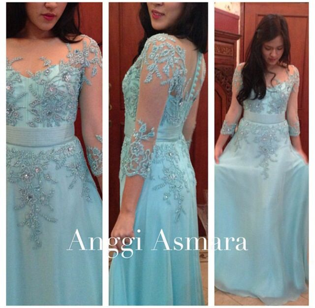 Baby blue dress #kebaya #style #bridesmaid #idea by Anggi